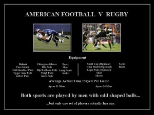 American football vs Rugby